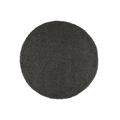 Cozy Charcoal Area Rug Rug Size: Round 53 x 53