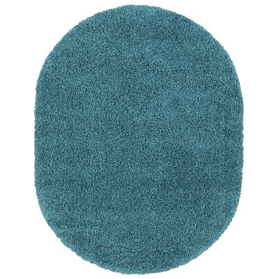Cozy Turquoise Area Rug Rug Size: Oval 53 x 7