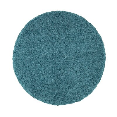 Cozy Turquoise Area Rug Rug Size: Round 53 x 53