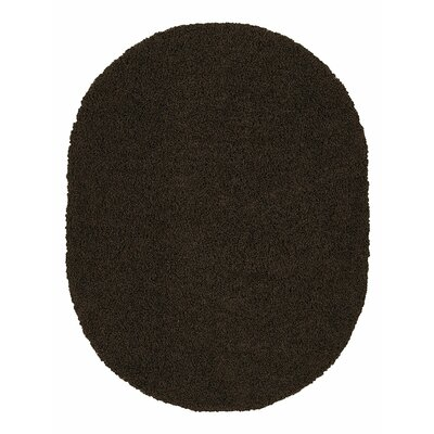 Beldale Shag Brown Area Rug Rug Size: Oval 53 x 7