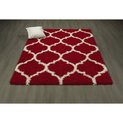 Danby Trellis Red/Ivory Area Rug Rug Size: Rectangle 710 x 910