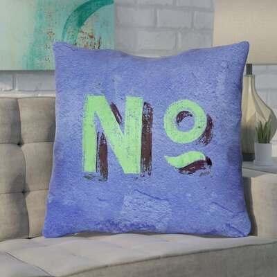 Enciso Graphic Wall Euro Pillow with Zipper Color: Blue/Green