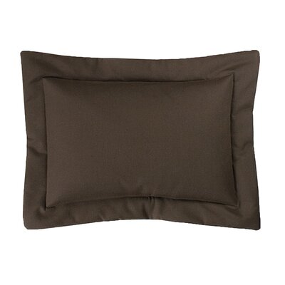Lazaro Cotton Lumbar Pillow Color: Chocolate
