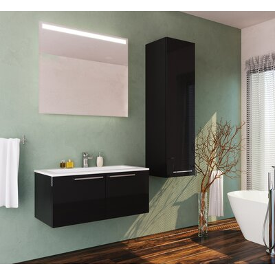 Whitehorn Single Bathroom Vanity Set with Mirror Size: 13.77 H x 39.37 W x 18.89 D