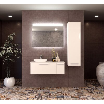 Westphalia 47 Single Bathroom Vanity Set with Mirror