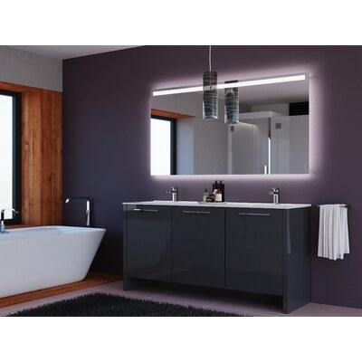 Westward 63 Double Bathroom Vanity Set with Mirror