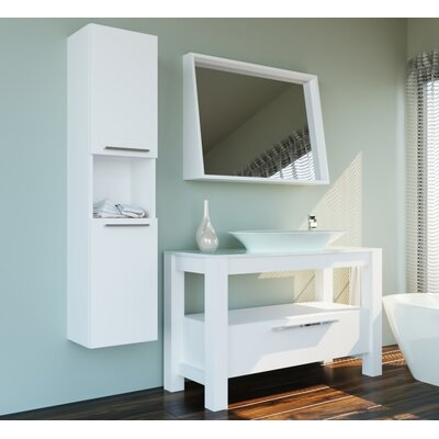 Prudhomme 47 Single Bathroom Vanity Set with Mirror