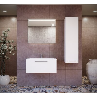 Pruneda 39 Single Bathroom Vanity Set with Mirror