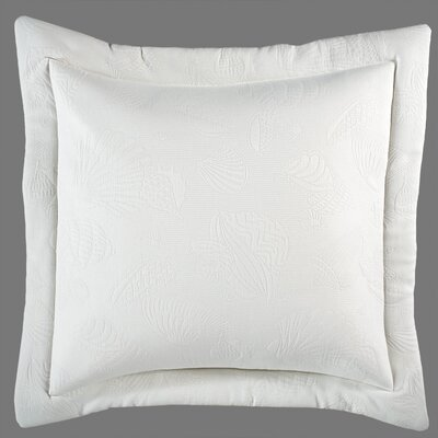 Revathi Euro Sham Color: White, Size: 26 H x 26 W x 2.5 D