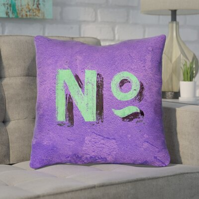 Enciso Graphic Wall Throw Pillow Size: 14 x 14, Color: Purple/Green