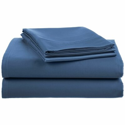 Anthem 180 Thread Count 100% Cotton Sheet Set Size: King, Color: Navy