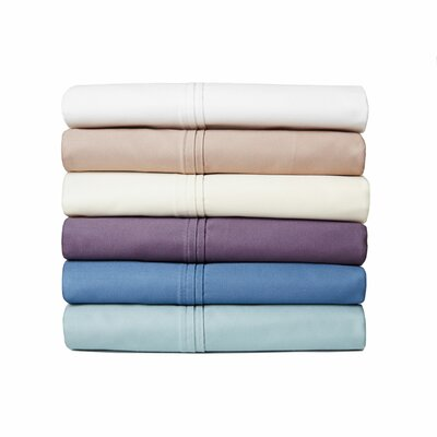 Anthem 180 Thread Count 100% Cotton Sheet Set Size: Full, Color: Cranberry