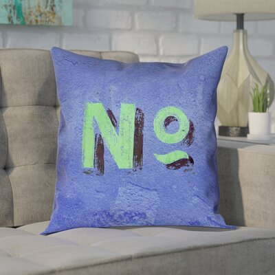 Enciso Graphic Wall Pillow Cover with Zipper Size: 16 x 16, Color: Blue/Green