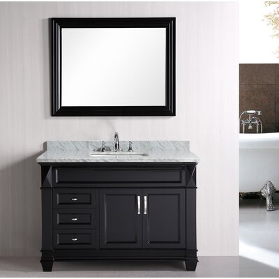 Rosalez 48 Single Bathroom Vanity Set with Mirror
