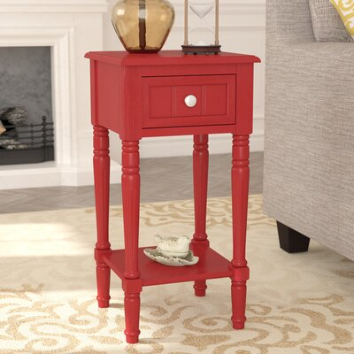 Liller End Table Color: Red
