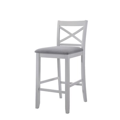 Macina 30 Bar Stool Upholstery: Gray