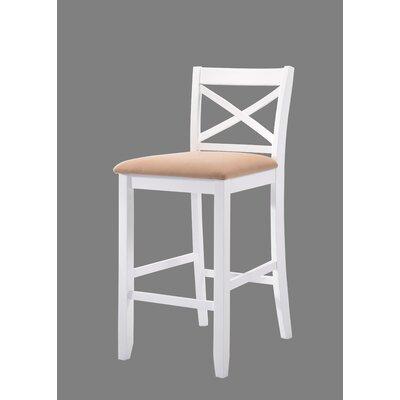 Macina 30 Bar Stool Upholstery: White/Beige