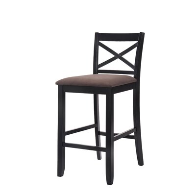 Macina 30 Bar Stool Upholstery: Black/Brown