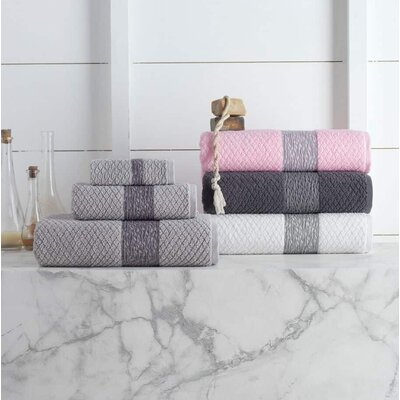 Vicente Cotton Bath Towel Color: Pink