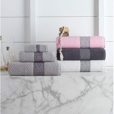 Vicente 6 Piece Towel Set Color: White