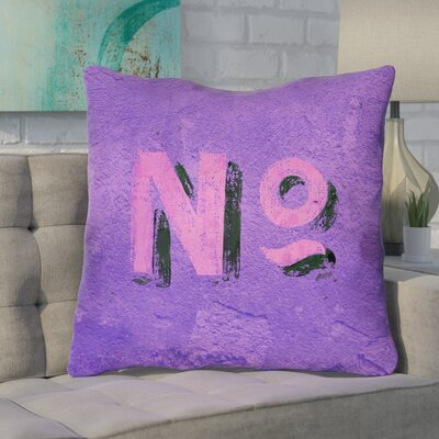 Enciso Graphic Wall Euro Pillow with Zipper Color: Purple/Pink