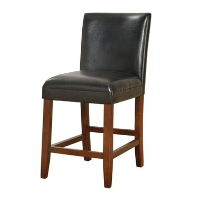 Clifton 24 Bar Stool Upholstery: Black
