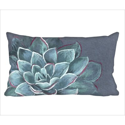 Masie Succulent Lumbar Pillow Color: Blue