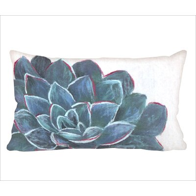 Masie Succulent Lumbar Pillow Color: Ivory