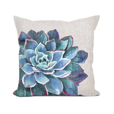 Masie Succulent Lumbar Pillow Color: Ivory