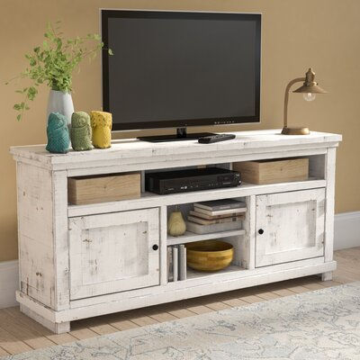 Willow 64 TV Stand Color: Distressed White