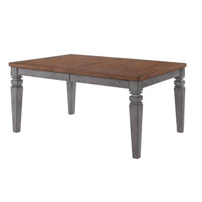Adalgar Dining Table Base Color / Top Color: Gray/Natural
