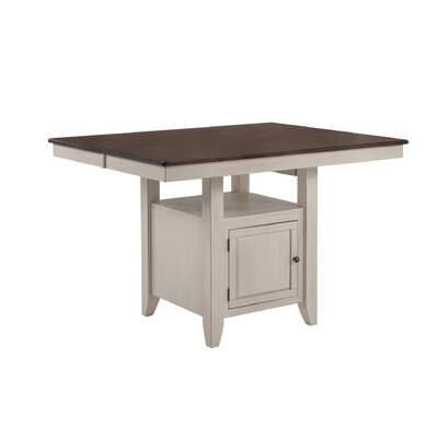 Adalgar Gathering Dining Table Base Color / Top Color: Mocha/Walnut