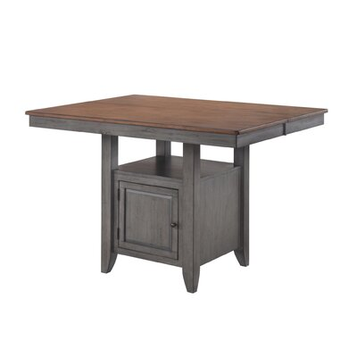Adalgar Gathering Dining Table Base Color / Top Color: Gray/Natural