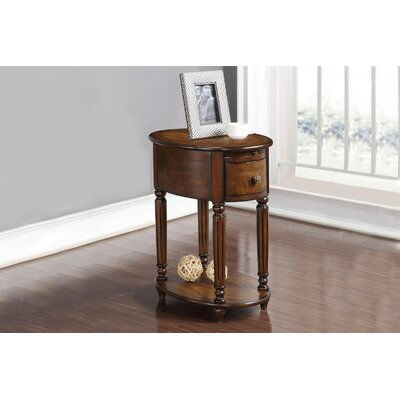 Seger Oval Chair End Table with Power Outlet
