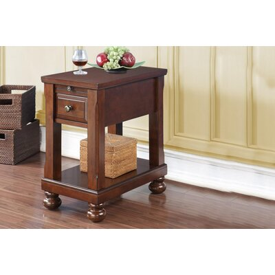 Seger Chair End Table with Power Outlet