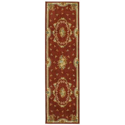 Risner Red Area Rug Rug Size: 21 x 76