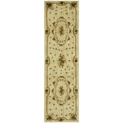 Risner Beige Area Rug Rug Size: 21 x 76