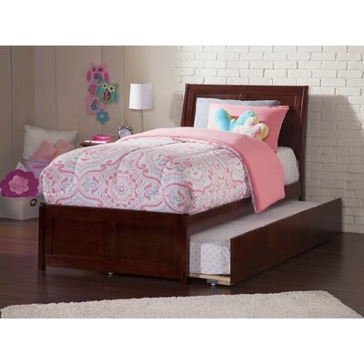 Ahoghill Modern Twin Platform Bed Bed Frame Color: Walnut