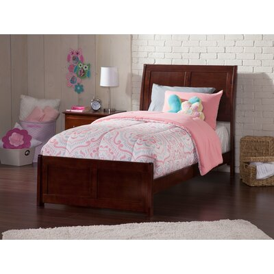 Ahoghill Twin Panel Bed Bed Frame Color: Walnut