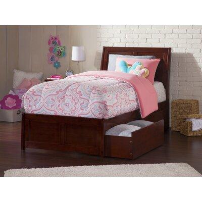 Ahoghill Twin Platform Bed Bed Frame Color: Walnut