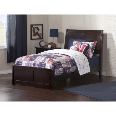 Ahoghill Twin Panel Bed Bed Frame Color: Espresso