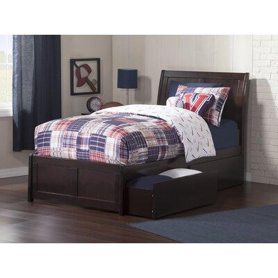 Ahoghill Twin Platform Bed Bed Frame Color: Espresso