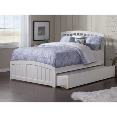 Dau Contemporary Platform Bed Size: Full, Bed Frame Color: White
