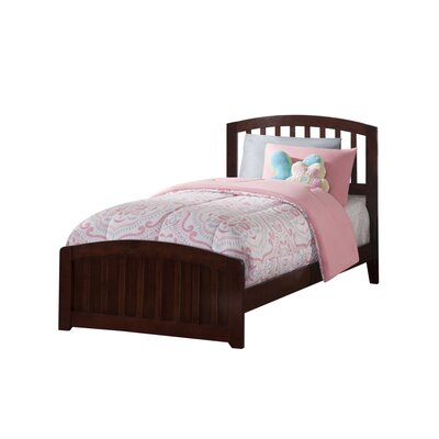 Dau Panel Bed Size: Twin, Bed Frame Color: Walnut