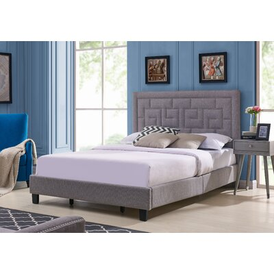 Wyckhoff Queen Upholstered Panel Bed Color: Dove Gray