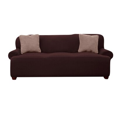 T-cushion Sofa Slipcover Upholstery: Brown