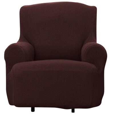 T-cushion Armchair Slipcover Upholstery: Brown