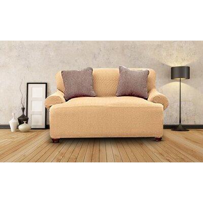 Loveseat Slipcover Upholstery: Beige