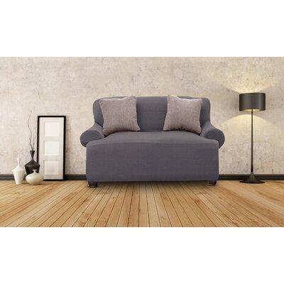 Loveseat Slipcover Upholstery: Gray