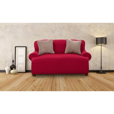 Loveseat Slipcover Upholstery: Burgundy